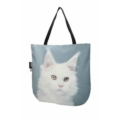 3D Maine Coon macskás táska - fehér