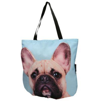 3D Francia Bulldog mintás táska - bézs 4