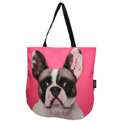 3D Francia Bulldog mintás táska - foltos 2