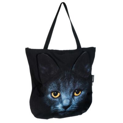 3D Macskás táska - fekete 4