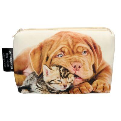 Kutya és Macska mintás kozmetikai táska