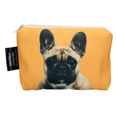 Francia Bulldog mintás kozmetikai táska - bézs 2