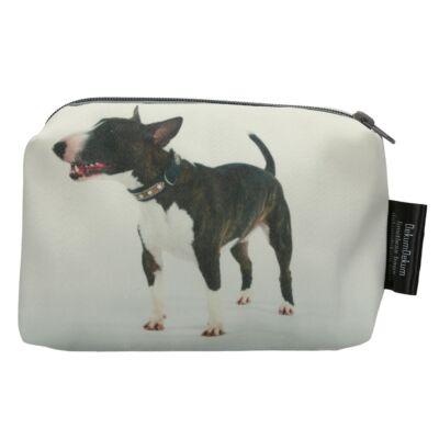 Bullterrier mintás kozmetikai táska - tricolor