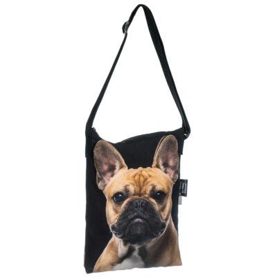 Francia Bulldog oldaltáska - bézs 3