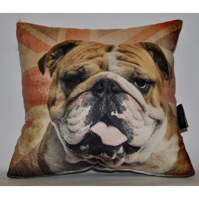 Angol Bulldog mintás párna
