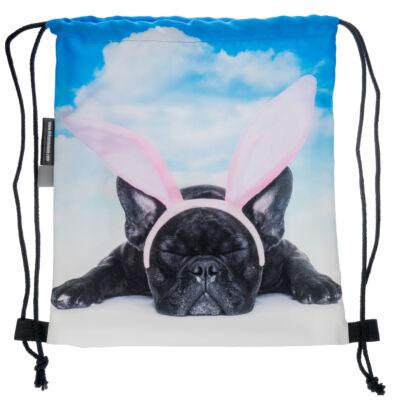 Francia Bulldog mintás hátizsák - angel