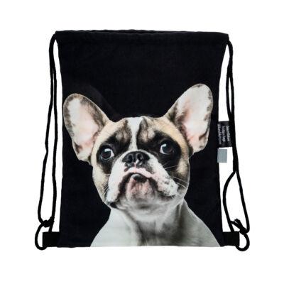Francia Bulldog mintás hátizsák - foltos