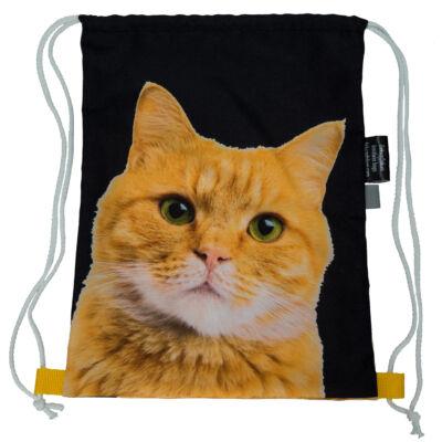 Macskás hátizsák - vörös 2