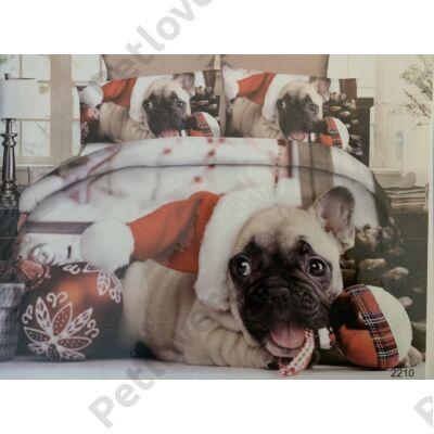Francia Bulldogos ágynemű - karácsony