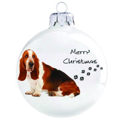 Basset hound karácsonyfadísz