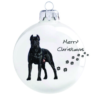 Cane corso karácsonyfadísz