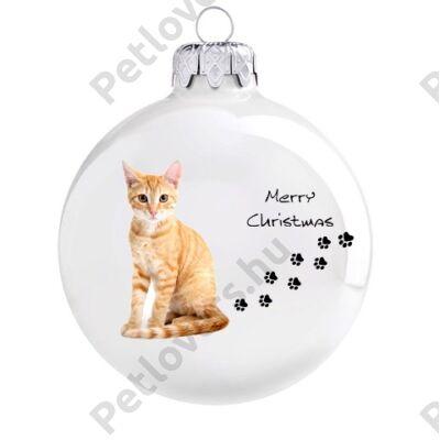 Vörös cica karácsonyfadísz