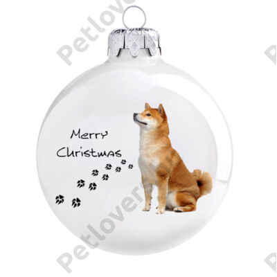 Akita inu karácsonyfadísz