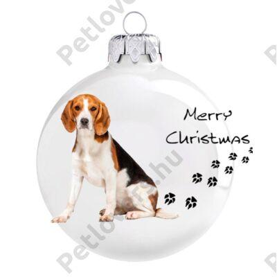 Beagle karácsonyfadísz