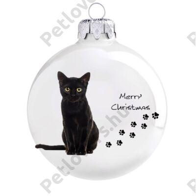 Fekete macska karácsonyfadísz