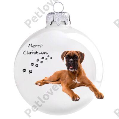 Boxer karácsonyfadísz