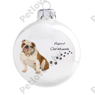 Angol bulldog karácsonyfadísz