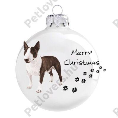 Bullterrier karácsonyfadísz