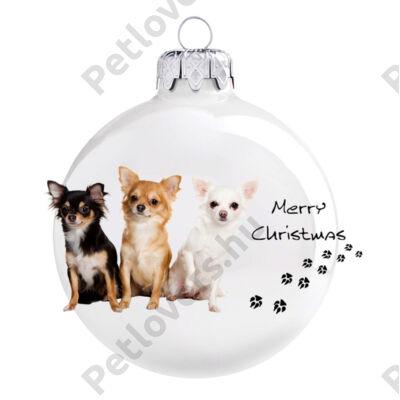 Chihuahua karácsonyfadísz