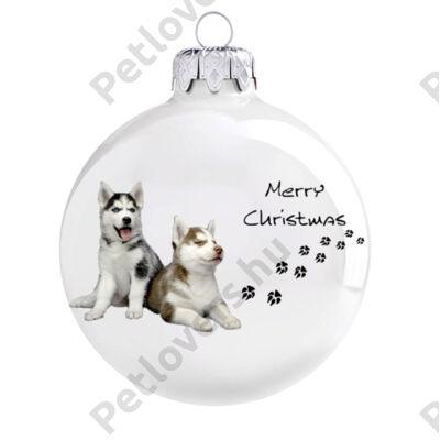 Husky  karácsonyfadísz 2