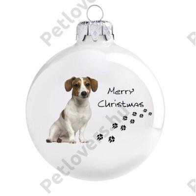 Jack Russell terrier karácsonyfadísz