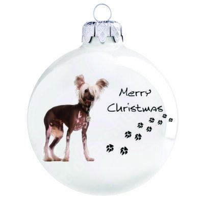 Kínai meztelen kutya karácsonyfadísz