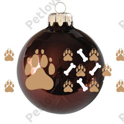 Kutya mancs karácsonyfadísz - 6db