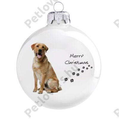 Labrador karácsonyfadísz