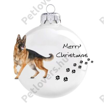 Németjuhász karácsonyfadísz