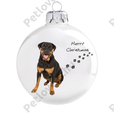 Rottweiler  karácsonyfadísz