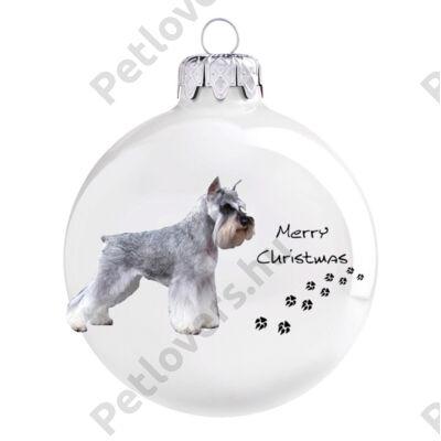 Schnauzer karácsonyfadísz