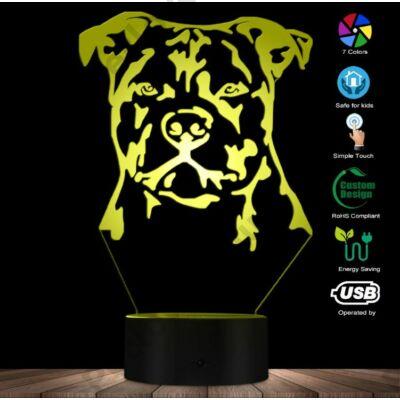 Staffordshire Bull Terrier Led lámpa