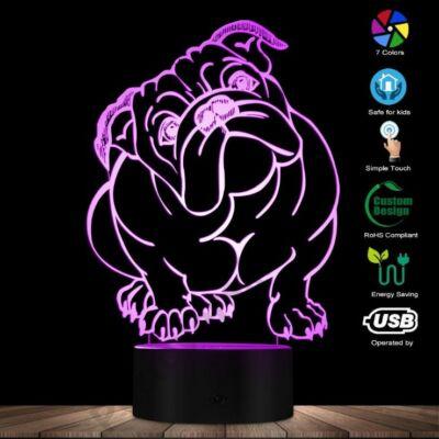 Angol Bulldog Led lámpa