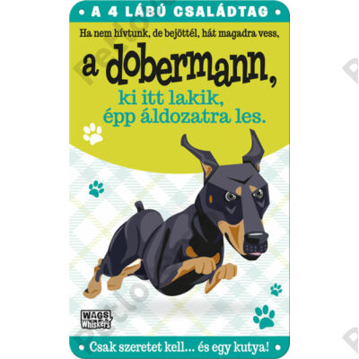 Dobermann fém ajtótábla