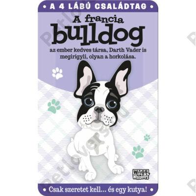 Francia bulldog fém ajtótábla