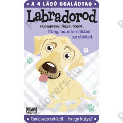 Labrador fém ajtótábla
