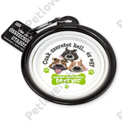 Amerikai staffordshire terrier összecsukható utazó kutyatál - w&w