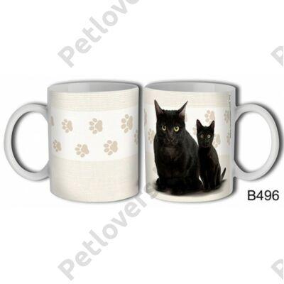 Fekete macska bögre