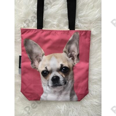 Chihuahua mintás táska - pink