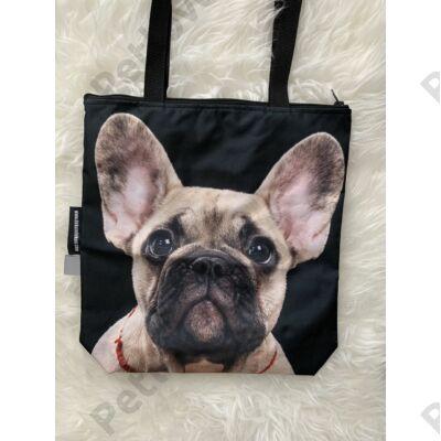 Francia Bulldog mintás táska