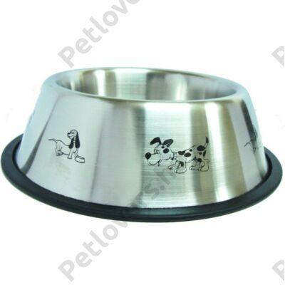 RainTech magasított Kutya mintás fémtál - 0,85L