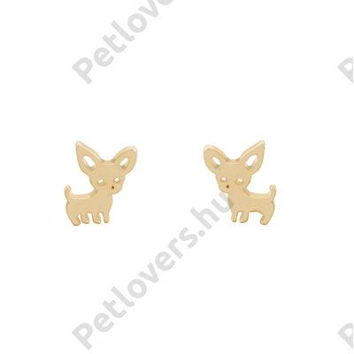 Chihuahua fülbevaló -  arany