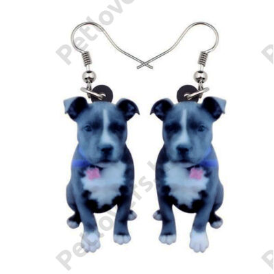 Staffordshire Bull Terrier fülbevaló