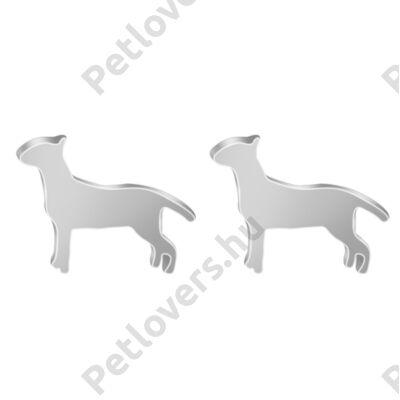 Bullterrier fülbevaló -  ezüst