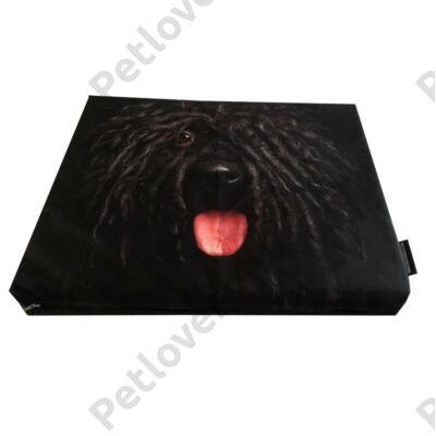 Puli mintás kutyafekhely 90x65