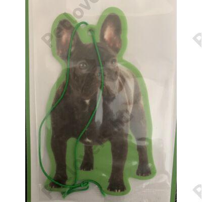 Francia Bulldog autóillatosító - fekete