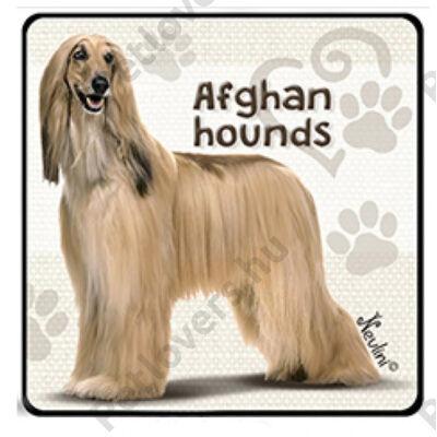 Afghan hounds hűtőmágnes