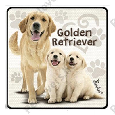 Golden Retriever hűtőmágnes