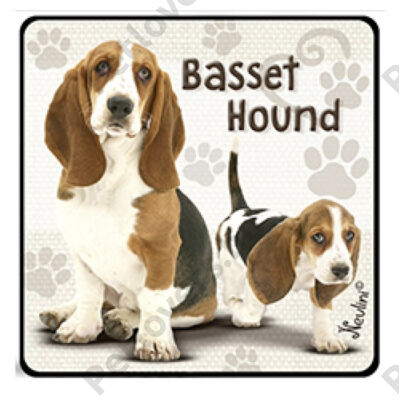 Basset Hound hűtőmágnes