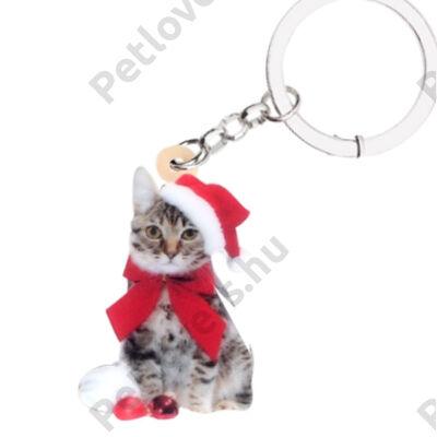 Cicás karácsonyi kulcstartó
